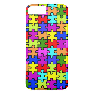 Colorful rainbow jigsaw puzzle pattern iPhone 8 plus/7 plus case