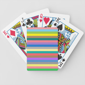 Colorful rainbow lines pattern bicycle playing cards