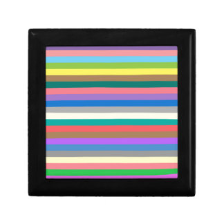 Colorful rainbow lines pattern gift boxes