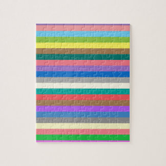 Colorful rainbow lines pattern jigsaw puzzle