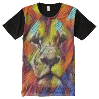 Colorful Rainbow Lion Texture Art