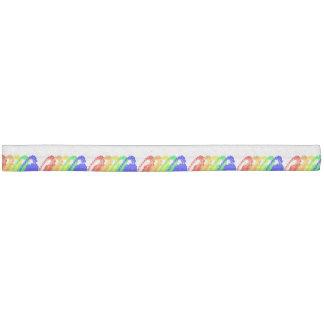 Colorful Rainbow London Eye Ribbon Hair Ties