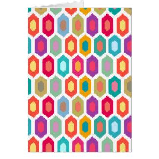 Colorful Rainbow Modern Ikat Pattern Card