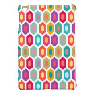 Colorful Rainbow Modern Ikat Pattern iPad Mini Cases