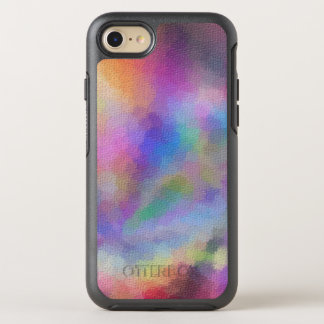 Colorful rainbow OtterBox symmetry iPhone 7 case