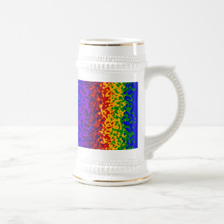 Colorful Rainbow Paint Splatters Abstract Art 18 Oz Beer Stein