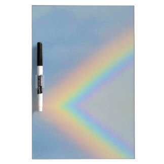 Colorful Rainbow Pattern in Blue Sky, Photography Dry Erase Board