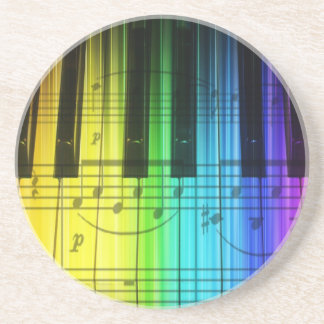 Colorful Rainbow Piano Keyboard Coaster