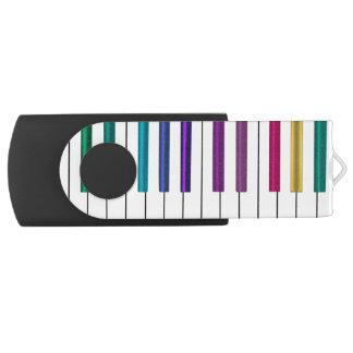 Colorful Rainbow Piano Music USB Flash Drive Swivel USB 3.0 Flash Drive