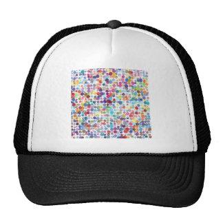 Colorful Rainbow Polka Dot Watercolor Trucker Hat
