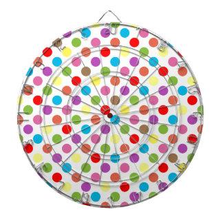 Colorful rainbow polka dots pattern dartboard