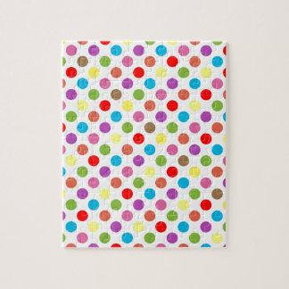 Colorful rainbow polka dots pattern jigsaw puzzle