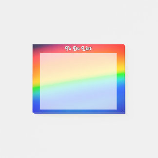 Colorful Rainbow Post-it Notes
