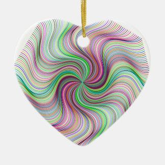 Colorful Rainbow Prism swirl wheel Ceramic Ornament