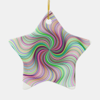 Colorful Rainbow Prism swirl wheel Ceramic Ornament