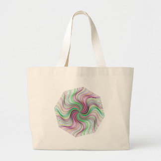 Colorful Rainbow Prism swirl wheel Large Tote Bag