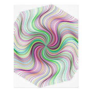 Colorful Rainbow Prism swirl wheel Letterhead