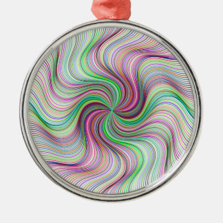 Colorful Rainbow Prism swirl wheel Metal Ornament