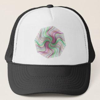 Colorful Rainbow Prism swirl wheel Trucker Hat