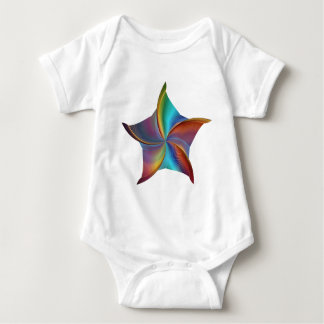 Colorful Rainbow Prism Swirling Star Baby Bodysuit