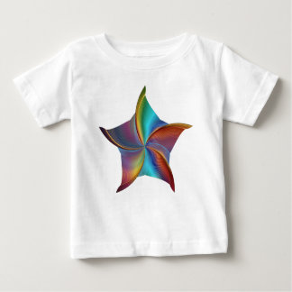 Colorful Rainbow Prism Swirling Star Baby T-Shirt