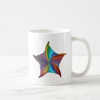 Colorful Rainbow Prism Swirling Star Coffee Mug