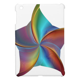 Colorful Rainbow Prism Swirling Star iPad Mini Case