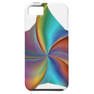 Colorful Rainbow Prism Swirling Star iPhone 5 Case