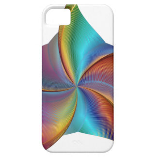 Colorful Rainbow Prism Swirling Star iPhone 5 Cases
