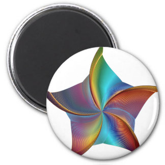Colorful Rainbow Prism Swirling Star Magnet