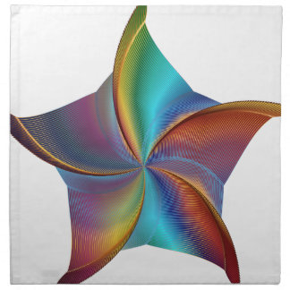 Colorful Rainbow Prism Swirling Star Napkin