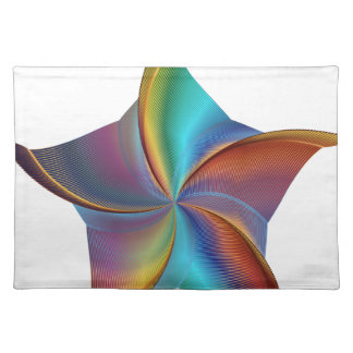Colorful Rainbow Prism Swirling Star Placemat