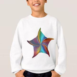Colorful Rainbow Prism Swirling Star Sweatshirt
