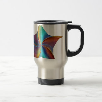 Colorful Rainbow Prism Swirling Star Travel Mug