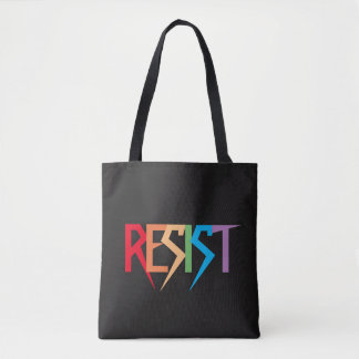 Colorful Rainbow Resist Tote Bag