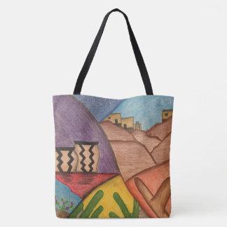 Colorful Rainbow Southwest Desert Tote Bag