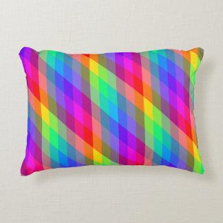 Colorful Rainbow Spectral Prisms Decorative Pillow