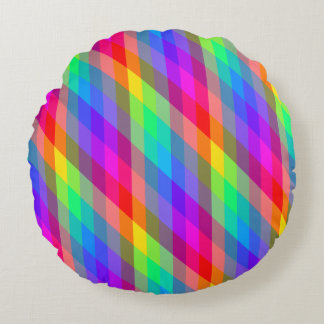 Colorful Rainbow Spectral Prisms Round Pillow