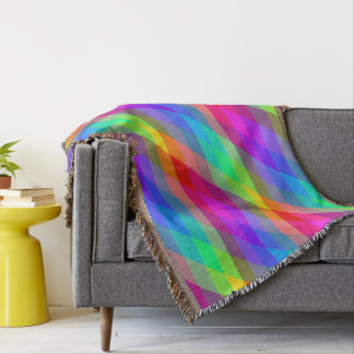 Colorful Rainbow Spectral Prisms Throw Blanket