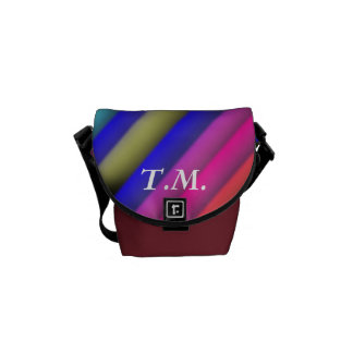 Colorful Rainbow Stripes Messenger Bags