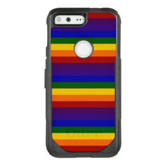 Colorful Rainbow Stripes OtterBox Commuter Google Pixel Case
