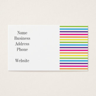 Colorful Rainbow Stripes Pattern Gifts for Teens Business Card