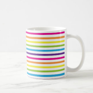Colorful Rainbow Stripes Pattern Gifts for Teens Coffee Mug