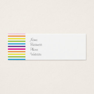 Colorful Rainbow Stripes Pattern Gifts for Teens Mini Business Card