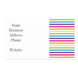 Colorful Rainbow Stripes Pattern Gifts for Teens Pack Of Standard Business Cards