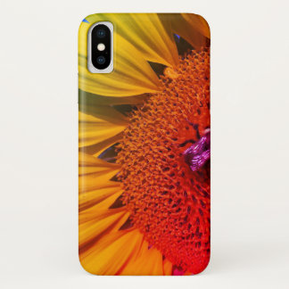 Colorful Rainbow Sunflowers Honey Bee iPhone Case