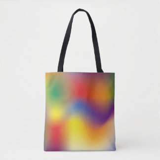 Colorful Rainbow tie dye style Tote Bag