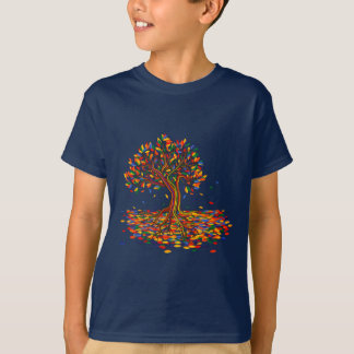 Colorful rainbow tree with bright colors T-Shirt