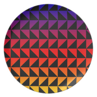 Colorful Rainbow Triangle Pattern Plates