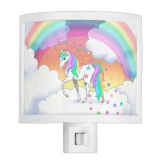 Colorful Rainbow Unicorn and Stars Nite Light